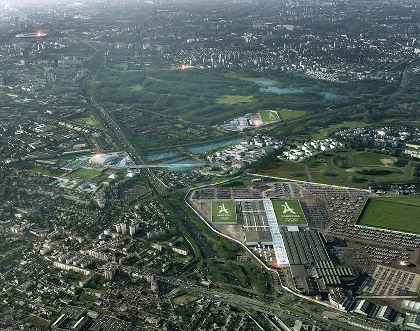 vue aérienne du territoire