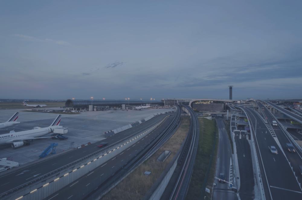 vue d'un terminal de Roissy CDG